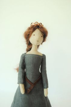 Cloth doll / royal queen / one of a kind / handmade by willowynn