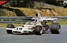 1972 British GP, Brands-Hatch. #18 McLaren-Ford M19C driven by Denny Hulme who finished 5th.