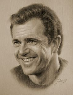 Mel Gibson, Art, Pencil-Drawing by krzysztof20d