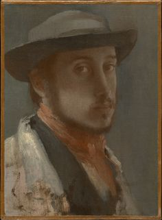 HILAIRE-GERMAIN-EDGAR DEGASFRENCH, 1834–1917SELF-PORTRAITc. 1857–58Oil on paper, mounted on canvas