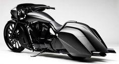 Custom Victory Baggers Matte-black-