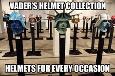 Vader's helmet collection…
