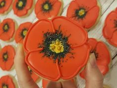 Remembrance Day Poppy Sugar Cookies on Kookievision by Sweethart Baking Experiment - YouTube