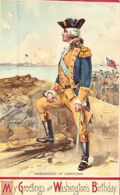 George Washington at Yorktown by Olde America Antiques. George Washington at Yorktown. Yorktown Colonial National Historical Park from Olde America Antiques Online. George Washington Pictures, George Washington Birthday, Conquistador, Us History, American History, History Facts, Ancient History, Patriotic Images, Carnival