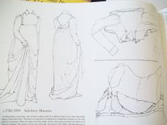 From the Book Patterns of Fashion by Janet Arnold