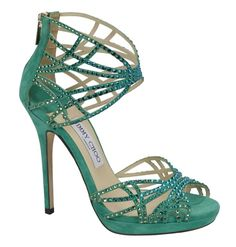 Jimmy Choo's Cruise 2013 Collection. Diva in jade suede.