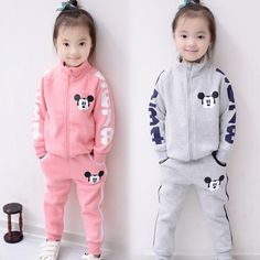 Cheap baby boy tracksuit, Buy Quality boy clothing set autumn directly from China boys tracksuit Suppliers: 2017 baby girl boy clothing sets Autumn children's clothing Mickey baby boys tracksuits sets cotton sweatshirts+trousers Baby Outfits, Newborn Girl Outfits, Kids Outfits, Baby Boy Fashion, Kids Fashion, Clothing Sets, Boy Clothing, Clothes, Children Clothing