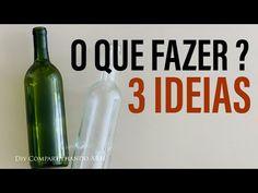 GARRAFAS DECORADAS 3 ideias incríveis DIY Artesanato do Lixo ao Luxo do Compartilhando Arte - YouTube