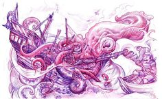 A-pirate-watches-a-sea-monster-eat-his-ship-in-this-new-school-tattoo-sketch-by-Jee-Sayalero.jpg 757×468 pixels