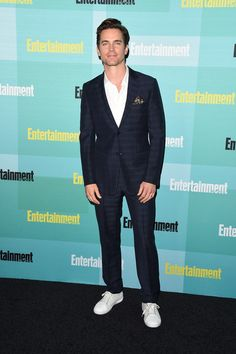 Matt Bomer in Ermenegildo Zegna Coutureat Comic-Con 2015 #suits
