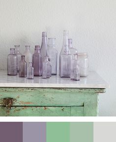Pantone 2013 Wedding Color Inspiration - African Violet, Tender Shoots, and Grayed Jade