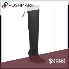 """ALMOST GONE‼️Over the Knee Wedge Boots Gorgeous vegan suede over the knee wedge boots! These are insanely soft & so sexy! ⭐️Wedge Heel- 3"""" ⭐️Tie at Top  ⭐️Smooth Vegan Suede ⭐️Can Tighten Tie at Top for perfect snugness  ⭐️Super Soft ⭐️Fitted/ Pull On Style  ⭐️A Celebrity Top Trend for Fall 🚫Trades/ PayPal or Mercari *️⃣Price Firm Unless Bundled Shoes Over the Knee Boots"""