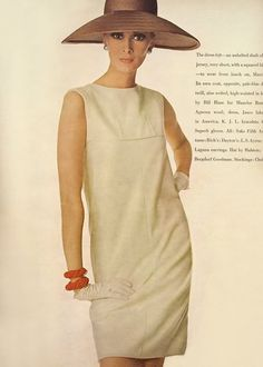 From American Vogue March 1st 1966 Wilhelmina photographed by Irving Penn.