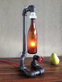 Beautiful Peared Creation Vintage Beer Bottle Lamp www.beerdecorations.com