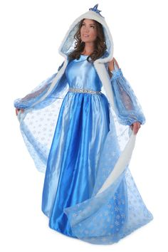 Icelyn Winter Princess Queen Elsa Frozen Womens Costume Dress Cloak 4 14 Adult | eBay