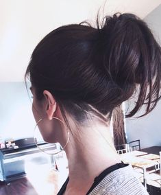 new hair style for summer ! { new hair style for summer ! Undercut Curly Hair, Undercut Hair Designs, Undercut Hairstyles Women, Long Hair With Undercut, Undercut Ponytail, Shaved Undercut, Undercut Women, Undercut Pixie, Hairstyles 2016