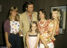 Missing her: 'I wanted her to stay home ... I don't know if it was just being a child who didn't want her mom to leave or what it was,' said Natasha of her last time seeing her mother (l to r: Katie Wagner, Robert Wagner, Natasha Gragson Wagner, Natalie Wood and Courtney Wagner in 1980)
