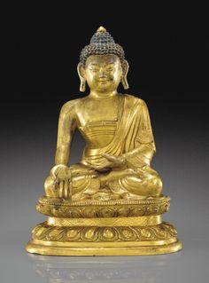 Statuette de Ratnasambhava en bronze doré Dynastie Qing, XVIIIE siècle Buddhist Temple, Buddhist Art, Buddha Figures, Modern Art, Contemporary, Qing Dynasty, Auction, Asian Art, Buddha Statues