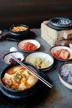 Some steaming hot 순두부 찌개 with some 잡곡밥 then some 누룽지 afterwards?...