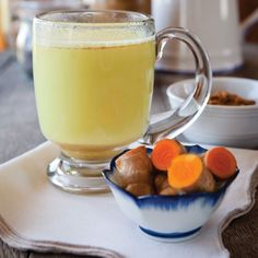 """""""Milk aids in the absorption of turmeric.Try this recipe to boost your immune system & get all the healthy benefits of this root."""" -Mother Earth Living """"Sip this warming Golden Milk throughout winter to prevent & treat the common cold.[..] Curcumin doesn't dissolve into water. Milk (as well as most Indian dishes) contains fat, which increases intestinal absorption of curcumin. """""""