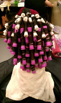 lots and lots and lots of perm rods. the horrors we used to put ourselves through to be beautiful Perm Rods, Healthy Hair, Curls, Beautiful, Hairstyles, Hair Weaves, Hair Bows, Healthy Hair Tips