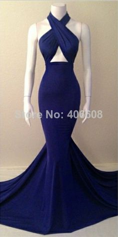 2014 Special Design Womens Party Dresses Halter Sleeveless Mermaid Evening Gowns Online $129.00