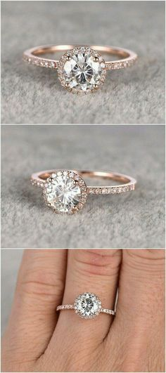 Magic in her fingers with this inviting engagement ring.