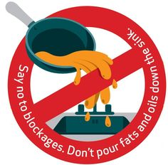 Never pour fat down the sink. Instead, let it cool and then put it in a container for disposal. #PlumbingTip