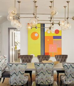 20 Rooms with Oversized Art | LuxeDaily - Design Insight from the Editors of Luxe Interiors + Design