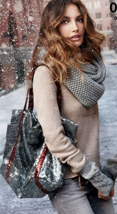 Winter Style want the whole outfit Fashion Moda, Look Fashion, Womens Fashion, Ladies Fashion, Street Fashion, Fashion Trends, Winter Outfits, Winter Clothes, Street Chic