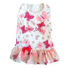 Vestido para Cachorro Borboleta Rosa Babadinhos Dear Dog - MeuAmigoPet.com.br #petshop #cachorro #cão #meuamigopet