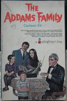 COLORFORMS: 1965 The Addams Family Cartoon Kit #Vintage #Toys