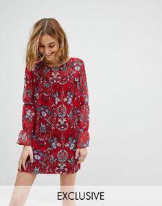Reclaimed Vintage Inspired Smock Dress In Floral