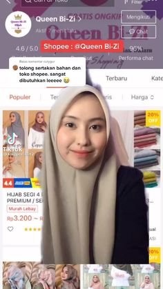 Pashmina Hijab Tutorial, Hijab Style Tutorial, Aesthetic Shop, Aesthetic Fashion, Shopping Websites, Online Shopping Stores, Online Shop Baju, Best Online Clothing Stores, Casual Hijab Outfit