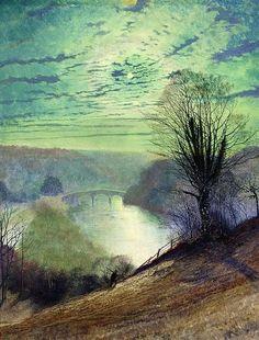 seabois:    John Atkinson Grimshaw - On the Tees near Barnard Castle (1868)