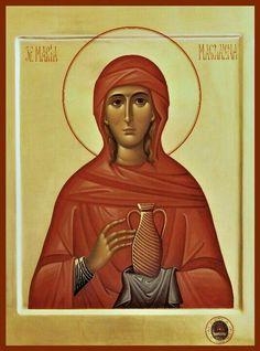 Byzantine Icons, Byzantine Art, Catholic Art, Catholic Saints, Religious Icons, Religious Art, Maria Magdalena, Best Icons, Church History
