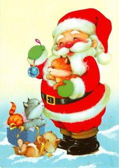 Santa & Kittens