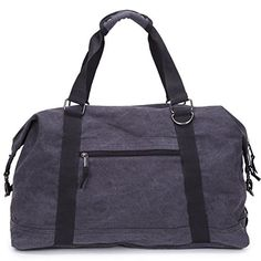 410e3984b0 Yousu Large Gym Bags Oversized Canvas Travel Tote Luggage Weekend Duffel Bag  Black -- Find