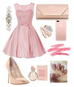 """""""P I N K"""" by carlamichellec on Polyvore featuring Dune, Dorothy Perkins, Dolce&Gabbana and Bulgari"""