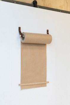George and Willy Release a New Kraft Paper Roll Dispenser - Design Milk paper packages gift wrapping wrapping gifts tags gifts paper Gift packaging gifts papers Brown Paper Roll, Paper Roll Holders, Brown Paper Packages, Lokal, Gift Wrapping, Wrapping Papers, Diy Wood Projects, Diy Paper, Diy Wall