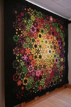 One block wonder quilt....Wow.