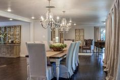"""Fixer Upper: Midcentury """"Asian Ranch"""" Goes French Country - Esszimmer French Country Dining Room, French Country Style, French Country Decorating, Country Farmhouse, Farmhouse Table, Rustic French, French Farmhouse, Rustic Modern, Rustic Chic"""