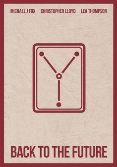 El Condensador De Fluzo: Regreso al Futuro - Quizá el poster más minimalista de BTTF