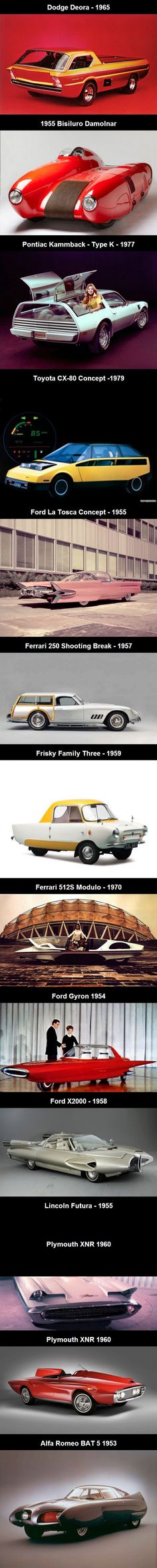 Strange Concept Car Prototypes from the 1950s-1970s