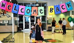 Welcome Back Banner for Back to School and Meet the Teacher Night