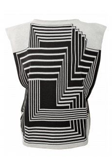 Wool Geometric Print Tunic New in at #Hervia from the #JeanPaulGaultier #AW13 #Womenswear collection. Available at #Hervia http://www.hervia.com/womens-c1/clothing-c78/knitwear-c29/wool-geometric-print-tunic-p11083 #Print #Geometric #Fashion #WomensFashion