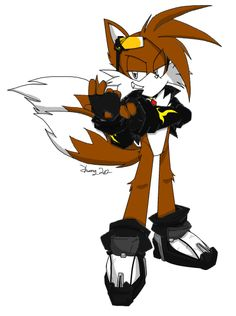 Dark Tails the fox by EmperorZheng on DeviantArt The Sonic, Sonic The Hedgehog, Tails Doll, Sonic Funny, Just Dance, Cool Art, Awesome Art, One Pic, A Team