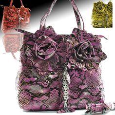 CELEBRITY SNAKE PRINT BAG Cameo Ring 962226a27d423