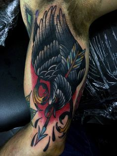 40 Traditional Crow Tattoo Designs For Men