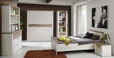 Penny Schlafzimmerset 6 tlg.  Modernes Schlafzimmermöbel im Landhausstill.Die Farbe bildet Holzstruktur ab und gibt ein trendiges und dekoratives Aussehen. Holzstruktur und Farbkombination aus weißem Korpus...